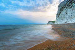 Beautiful beach on the Jurassic Coast of Dorset Royalty Free Stock Photos