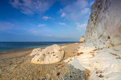 Beautiful beach on the Jurassic Coast of Dorset Royalty Free Stock Photography