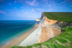Beautiful beach on the Jurassic Coast of Dorset Royalty Free Stock Images