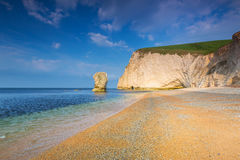 Beautiful beach on the Jurassic Coast of Dorset Stock Image