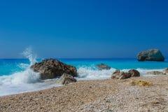 The beautiful beach of Kalamitsi (Lefkada) Stock Photography