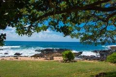 Beautiful beach in kauai Royalty Free Stock Photo