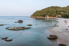 Beautiful beach at Koh Samui. Beautiful Silver beach a late afternoon Royalty Free Stock Photo