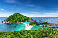 Beautiful beach of Koh Tao, Thailand Royalty Free Stock Photography