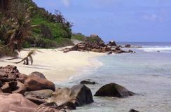 La Digue Island, Seychelles. Beautiful beach at La Digue Island, Seychelles Stock Photos
