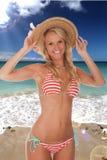 Beautiful Beach Lady Stock Photography