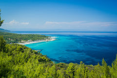 Beautiful beach lagoon Stock Images