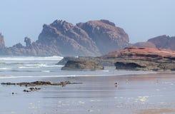 Beautiful beach landscape with big rocks Stock Image