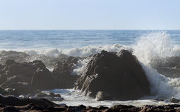 Beautiful beach landscape with big rocks Royalty Free Stock Photos