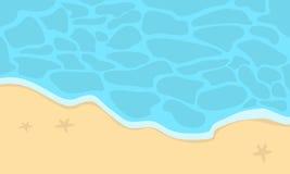 Beautiful beach landscape cartoon vector Stock Photography