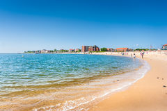 Beautiful beach landscape on the island of Foehr, the second-lar Royalty Free Stock Image