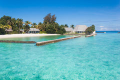 Beautiful beach landscape at Maldives. Royalty Free Stock Photos