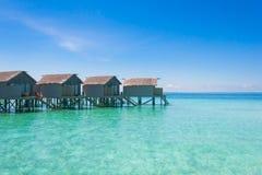 Beautiful beach landscape at Maldives. Beautiful paradise beach turquoise transparent sea around the island. Summer vacation on Maldives Stock Image