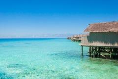 Beautiful beach landscape at Maldives. Beautiful paradise beach turquoise transparent sea around the island. Summer vacation on Maldives Royalty Free Stock Photos