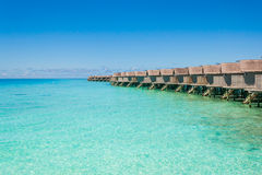 Beautiful beach landscape at Maldives. Beautiful paradise beach turquoise transparent sea around the island. Summer vacation on Maldives Stock Photo