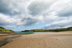 Beautiful beach landscape in Scotland. Beautiful beach landscape in Ornkey's Islands, Scotland royalty free stock photography