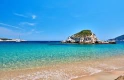 Beautiful beach landscape, Sithonia, Greece stock images