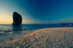 Beautiful beach landscape in Thailand. Sunset at beautiful beach  landscape in Thailand Royalty Free Stock Photo