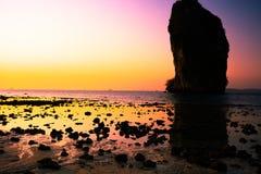 Beautiful beach landscape in Thailand. Sunset at beautiful beach  landscape in Thailand Royalty Free Stock Image