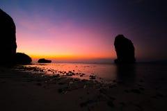 Beautiful beach landscape in Thailand. Sunset at beautiful beach  landscape in Thailand Stock Photography