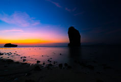 Beautiful beach landscape in Thailand. Sunset at beautiful beach  landscape in Thailand Royalty Free Stock Photography