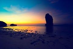 Beautiful beach landscape in Thailand. Sunset at beautiful beach  landscape in Thailand Stock Image
