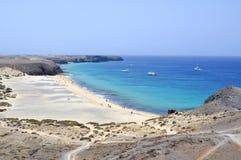 Beautiful beach on Lanzarote Royalty Free Stock Photos