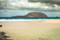 Beautiful beach las conchas,on La Graciosa, a small island near Royalty Free Stock Photos