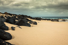 Beautiful beach las conchas,on La Graciosa, a small island near Stock Photo