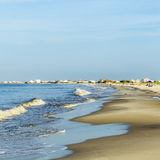Beautiful beach in late afternoon. Beautiful beach in early morning  at Dauphin Island, USA Royalty Free Stock Photos