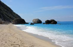 Beautiful beach in lefkada. Greece Stock Image