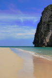 Beautiful beach and limestone cliff. Stock Photography