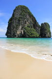 Beautiful beach and limestone island Stock Photo