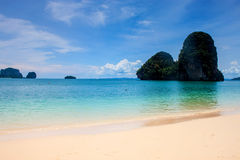 Beautiful beach and limestone landscape Stock Photos