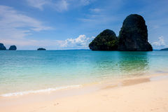 Beautiful beach and limestone landscape at Railay Stock Photo