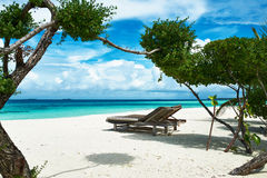 Beautiful beach at Maldives Stock Images