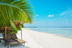 Beautiful beach at Maldives Stock Photos