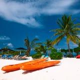 Beautiful beach Maldives Royalty Free Stock Photos