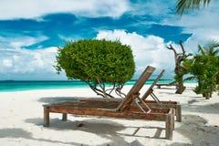 Beautiful beach at Maldives Stock Photography
