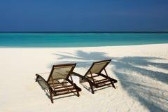 Beautiful beach at Maldives Royalty Free Stock Images