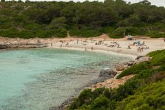 Beautiful beach in Mallorca,Spain. Holidays. Summer.  Stock Images