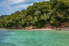 Beautiful beach in Mallorca,Spain. Holidays. Summer.  Stock Photo