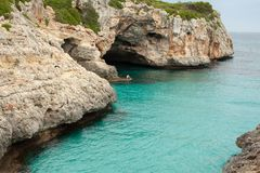 Beautiful beach in Mallorca,Spain. Holidays. Summer.  Royalty Free Stock Image