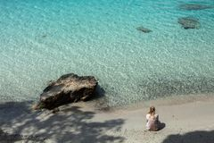 Beautiful beach in Mallorca,Spain. Holidays. Summer.  Stock Photos