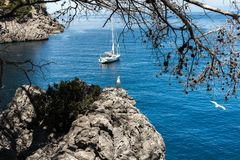 Beautiful beach in Mallorca,Spain. Holidays. Summer.  Royalty Free Stock Photo