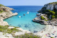 Beautiful beach in Mallorca Spain stock photography