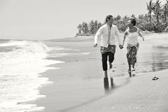 Beautiful beach marriage. Stock Photos
