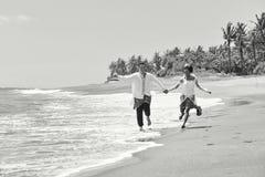 Beautiful beach marriage. Royalty Free Stock Image