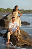 Beautiful beach marriage. Royalty Free Stock Photos