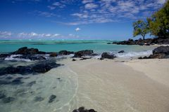 Beautiful Beach in Mauritius Stock Photos